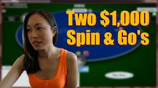 Two $1k Spin & Go's in a row on PokerStars!