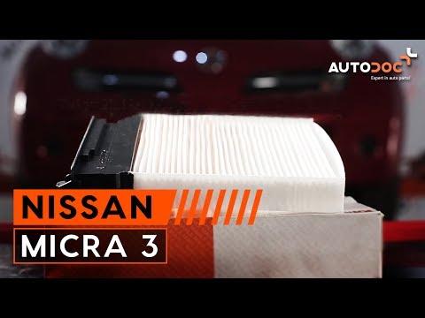Как да сменим филтър за купе на NISSAN MICRA 3 ИНСТРУКЦИЯ AUTODOC