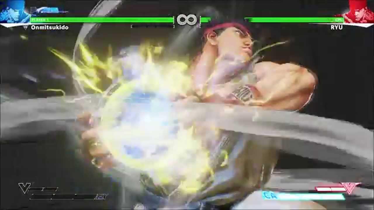 Street Fighter V Ryu Shinku Denjin Hadouken Critical Arts Hd