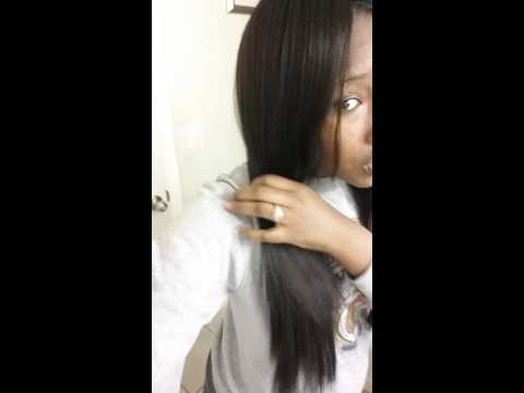 Straight vs blow dry classic lace wig 100%yaki
