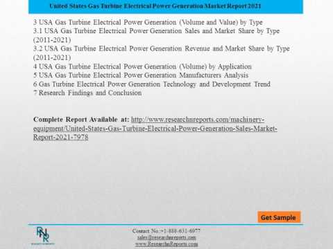 United State Gas Turbine Electrical Power Generation Sales Market 2021: Research Report