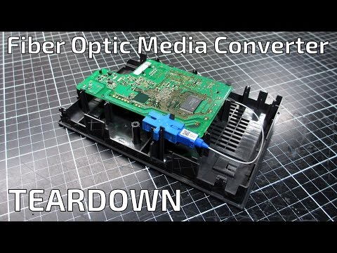 Internet Fiber Optic Media Converter Teardown