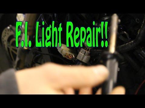 Zx12R Drag Bike Project #2 F.I. Light repair