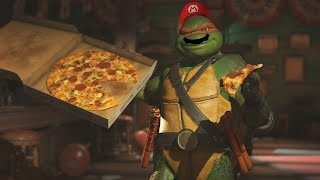 Injustice 2: All Hands Off My Pizza! Clash Dialogues With TMNT Michelangelo (Mikey)