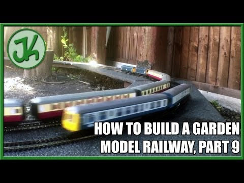 How to Build A Garden Model Railway, part 9. Trains running all the way around for the first time.