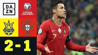 700. Ronaldo-Tor, aber Gruppensieg futsch: Ukraine - Portugal 2:1 | EM-Quali | DAZN Highlights