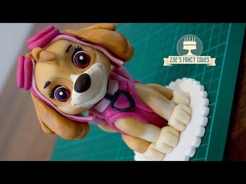 Skye cake topper Paw Patrol cake tutorial