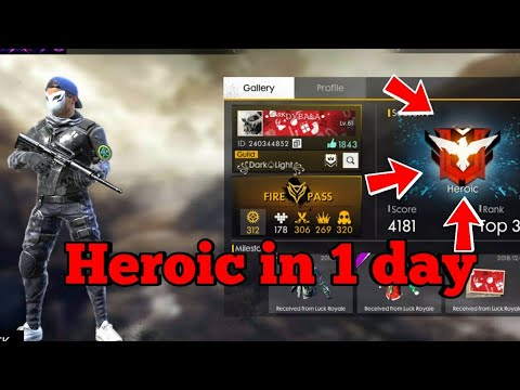 Easy Noob Trick To Reach To Heroic In 1 Day Freefire Heroic