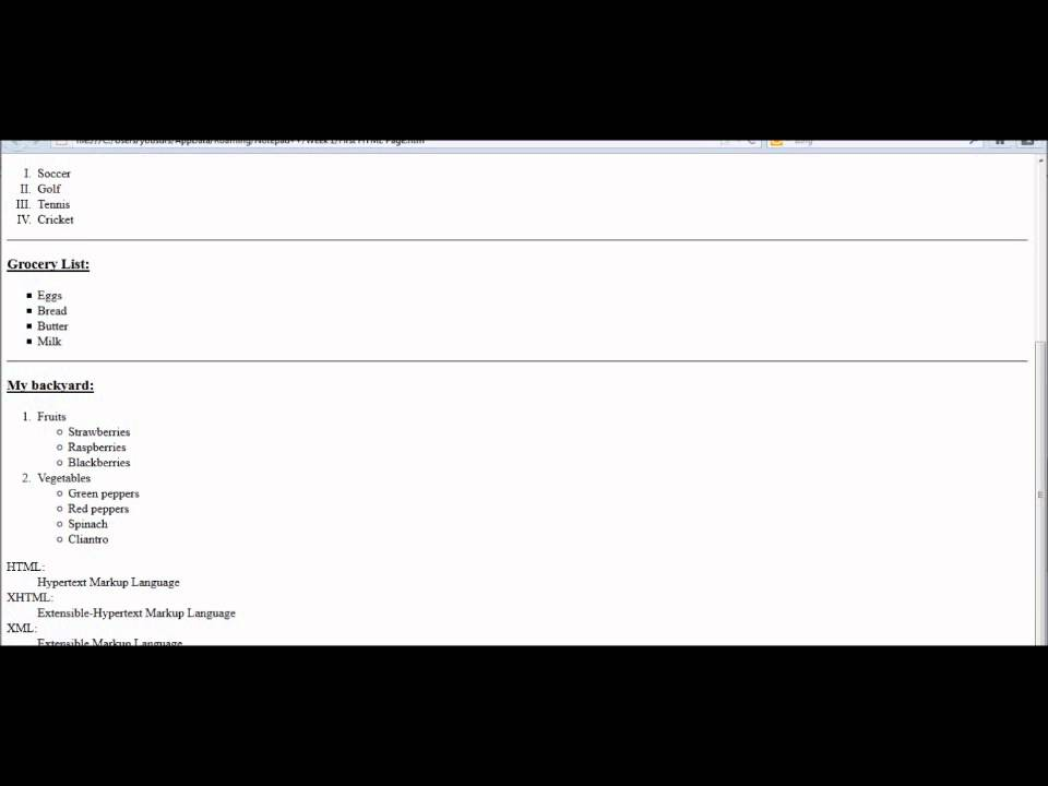 Html Tutorial 5 Definition List And Copyright Symbol Youtube