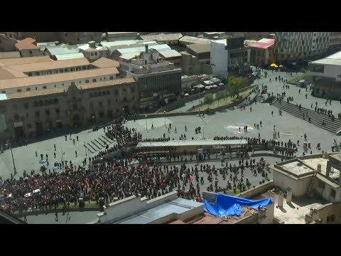 Thousands In Bolivia Arrive In La Paz With Funeral Procession | AFP