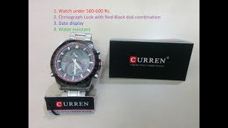 CURREN Watch A best watch in India under 500-600 INR