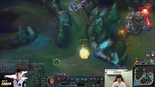 Is Swain's E a target skill? A clean skill combo by Faker! (SKT T1 Faker) [Game Full]