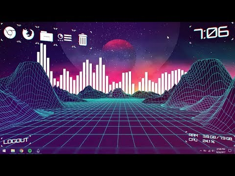 Aesthetic Desktop (Vaporwave) - Make Windows Look Better