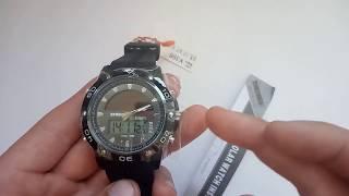 Наручные часы Skmei 1064 (Скмеи 1064) с солнечной батареей обзор, инструкция на русском, настройка