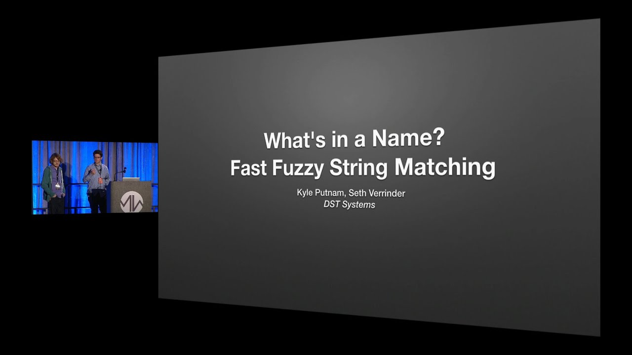 Various fuzzy string match algorithms & Excellent video review