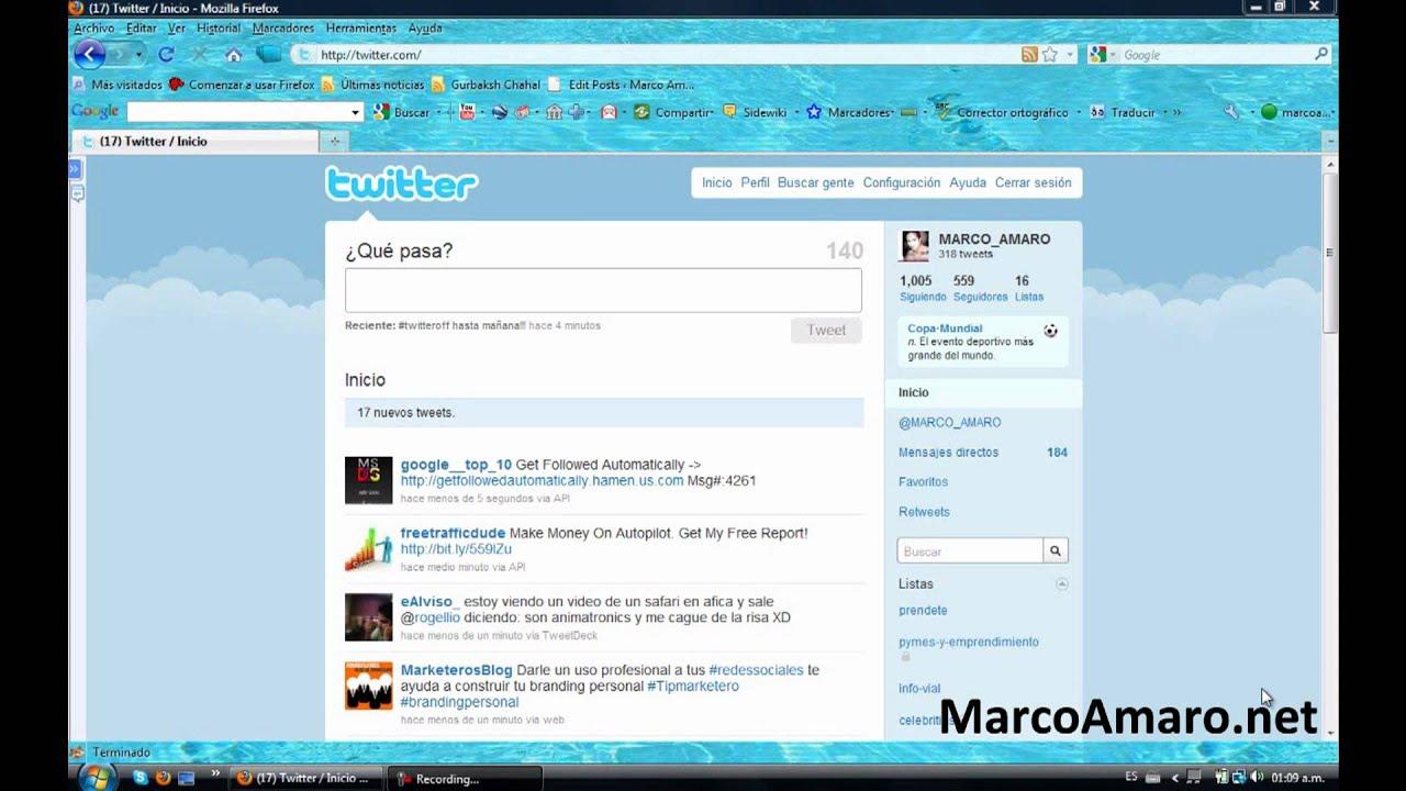 Tutorial twitter en espa ol como usar twitter marco for R s bains twitter