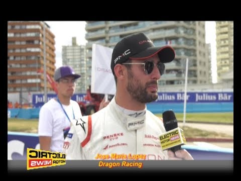 Jose Maria Lopez in griglia - Electric Motor News al Punta del Este ePrix