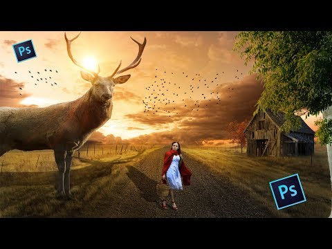 Big Deer -  Photoshop manipulation Tutorial