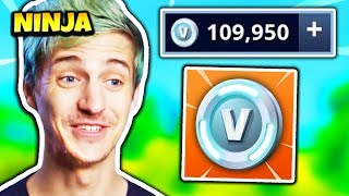 NINJA BUYS OVER 100K V-BUCKS | Fortnite Daily Funny Moments Ep.174