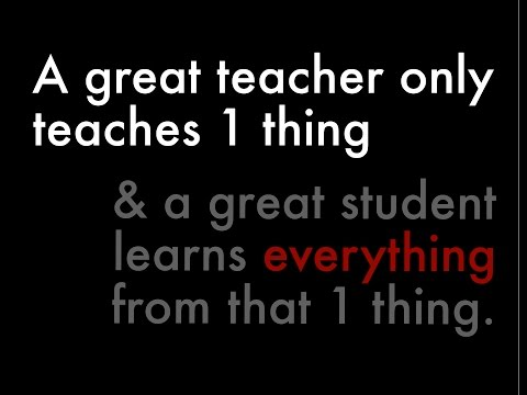1 MINUTE  PEDAGOGY: Great Teacher Only Teaches One Thing