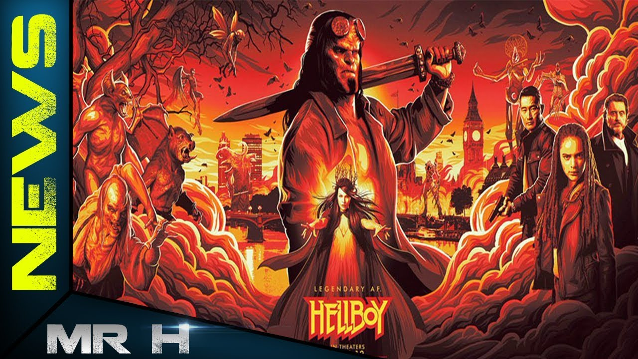 Movie Poster 2019: HELLBOY 2019 POSTER REVEALED AT NEW YORK COMIC CON