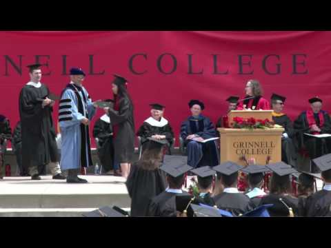 Conferring of Bachelor of Arts Degrees: Grinnell College Commencement 2017