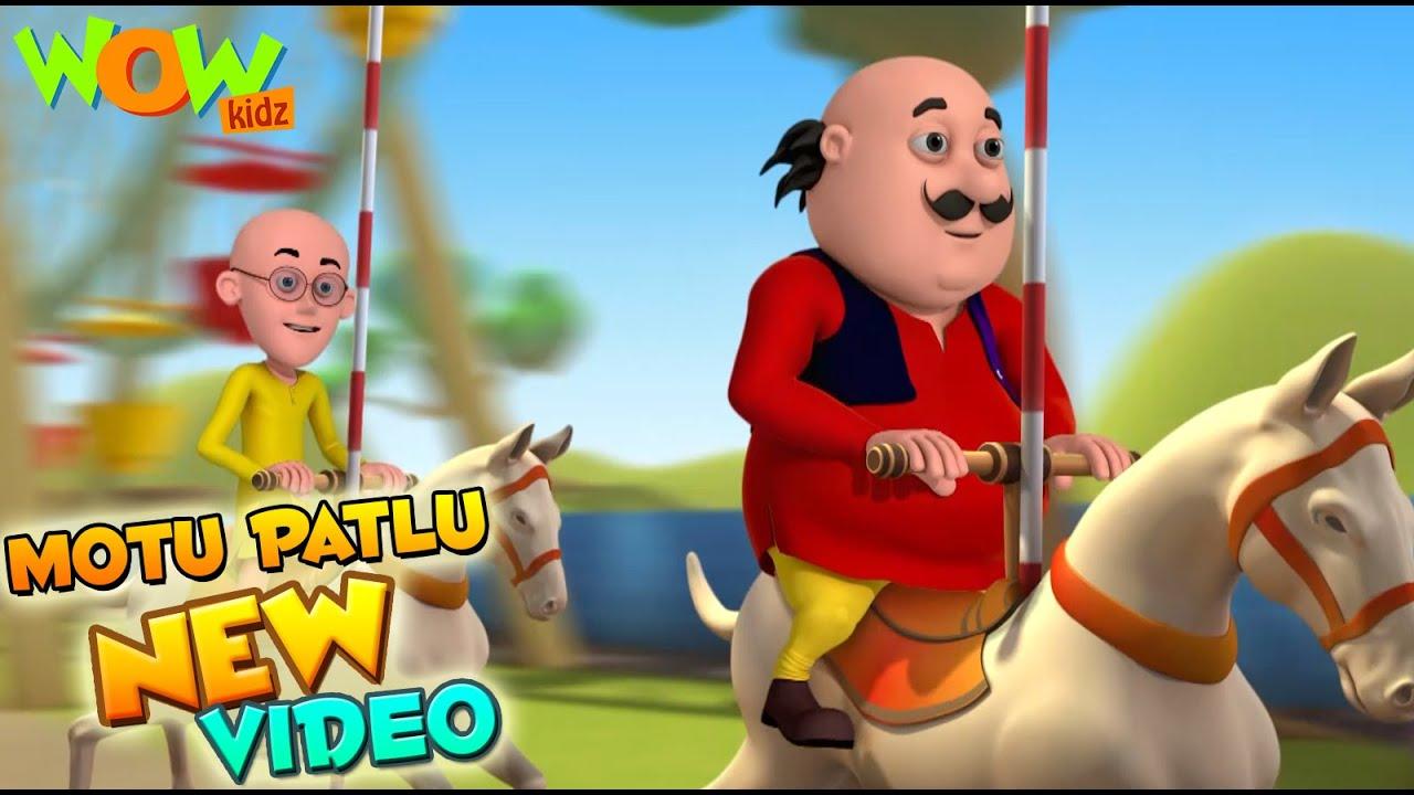 Motu Patlu   Funny Scenes   New videos   Wow Kidz    Compilation 04