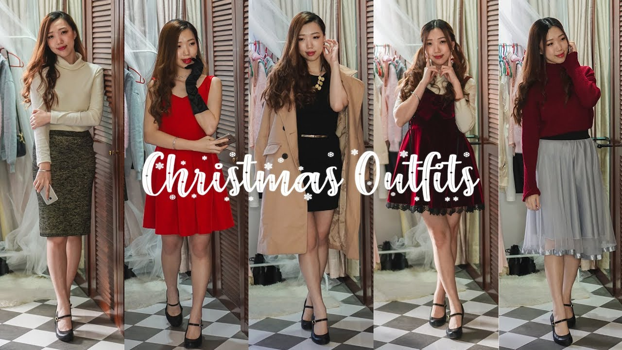 5 Stylish and Cute Christmas Outfit Ideas | Winter Lookbook 9