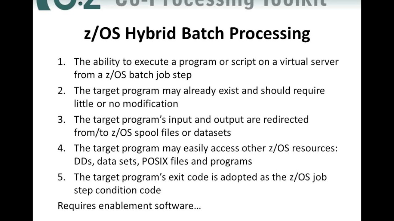 Dovetailed technologies llc - Introduction To Z Os Hybrid Batch Processing