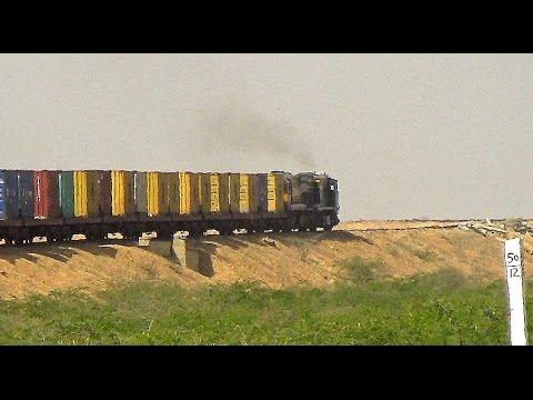 Pakistan Railways Henschel Beast 8219 Leading ZBFC Container Special
