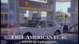 Shell ad for free American flags - 1996