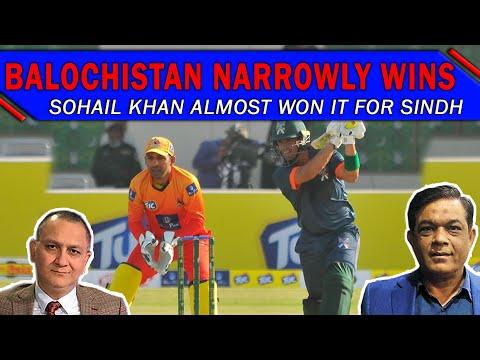 Sohail Khan almost won it for Sindh | Balochistan narrowly wins