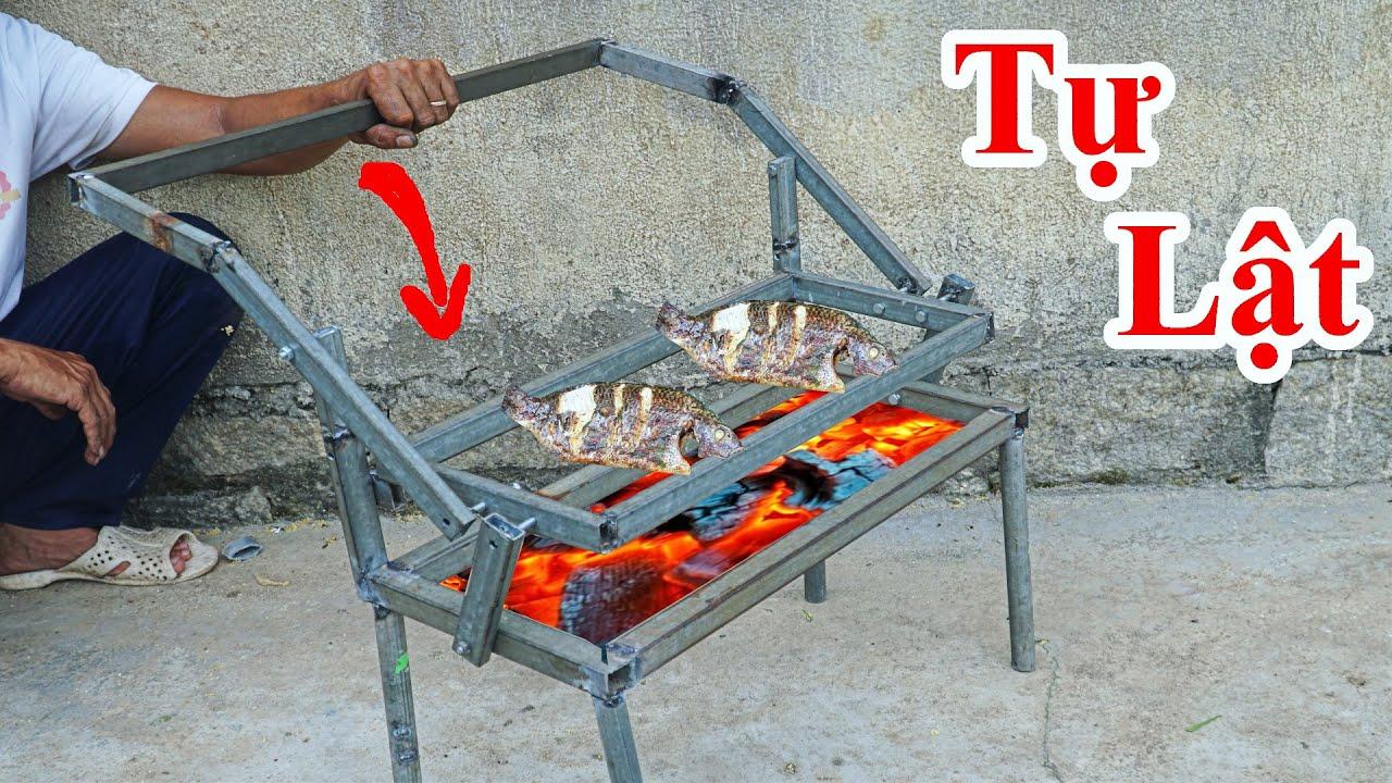 Cách Chế Bếp Nướng Thông Minh Tự Lật Vỉ Nướng Cực Hay / Hướng Dẫn Chế Bếp Nướng.Smart charcoal grill