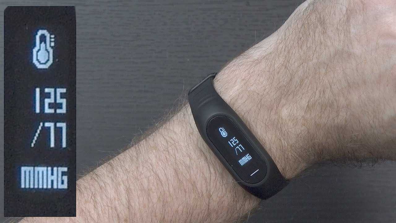blood pressure in a fitness tracker bozlun b15p youtube