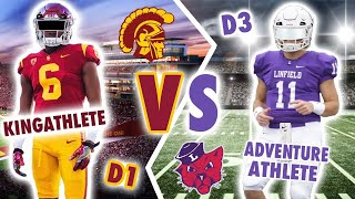 D1 College Football Home Game Routine  VS D3 College Football Home Game Routine
