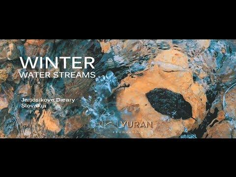 Winter water streams. Janosikove Diery. Slovakia 2018. Shot on iPhone 8 Plus.