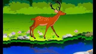 Deer and Lion || Telugu Animated Stories