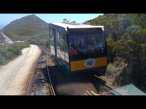 South Africa Cape Point funicular railway onboard