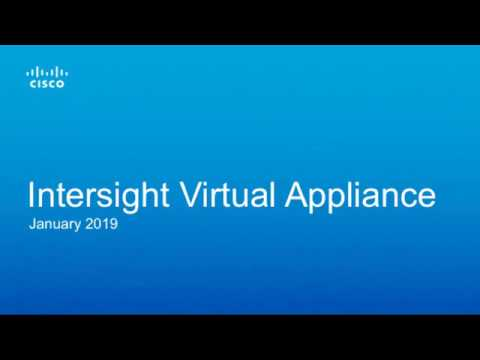 Cisco Intersight Appliance Configuration