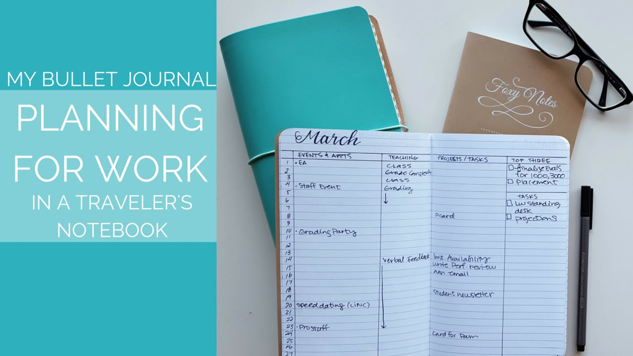 Megarainbowdash2000 S Journal: How To: Bullet Journal For Work In A Traveler's Notebook
