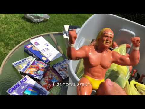 Garage Sale Hunting Episode 2: Pokemon Red CIB WWF LJN Figures GameCube Games & More