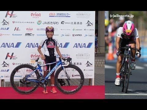 ツールド・おきなわ2018 優勝 小学生10kmレース 6年女子 車載カメラ