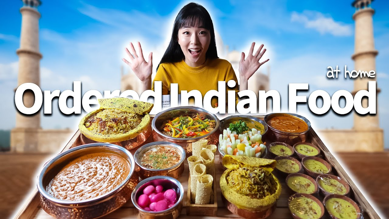 🇰🇷 KOREAN ORDERED INDIAN FOOD AT HOME 🇮🇳 || It Tastes Like ...... 😱