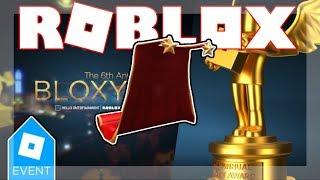 [BLOXY EVENTO TERMINOU 2019!] COMO OBTER RED CARPET CAPE! | Roblox 6 anual Bloxys
