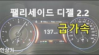 현대 팰리세이드 디젤 2.2 HTRAC 7인승 0→137km/h 가속(2020 Hyundai Palisade Acceleration) 2018.12.11