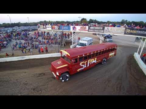 2017 Humboldt, Ks. School bus races -  A few clips