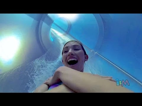AquaDunk POV drop water slide on the Disney Magic cruise ship