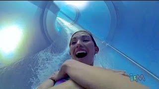 AquaDunk POV drop water slide on the Disney Magic cruise ship