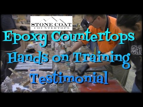 Epoxy Countertops Hands on Training Testimonial