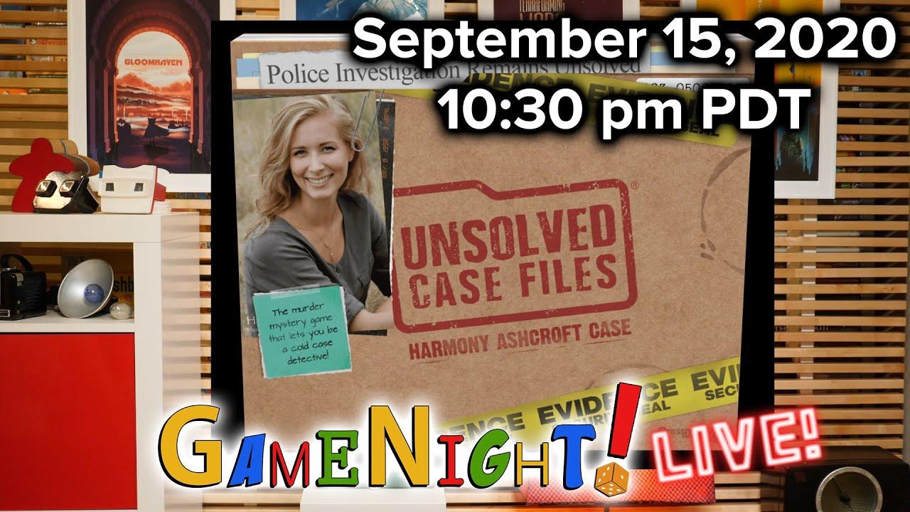 Unsolved Case FIles: Harmony Ashcroft Case - GameNight ...